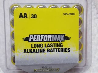 30 ct  AA batteries  shelf life Sept 2029