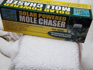 Solar powered mole chaser