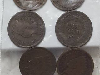 6 Indian Head pennies