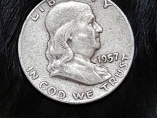 1957 Franklin silver half dollar