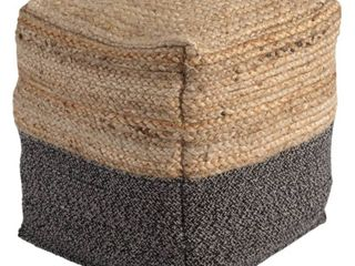 Sweed Valley Natural Black Pouf  Retail 79 98
