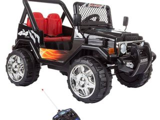 Ride On Toy All Terrain Vehicle  12V Battery Powered Sporty Truck With lights  by lil Rider  Black    Retail 229 99