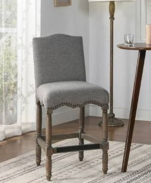 The Gray Barn Odile lake Farmhouse Upholstered Counter Height Bar Stool  Retail 403 99