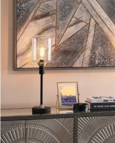 1 lAMP ONlY Carbon loft Bohman Two tone Table lamp Set  Retail 138 49