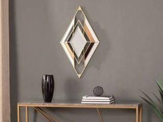 Cereny Transitional Gold Metal Wall Mirror
