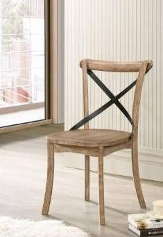 Acme Kendrick Side Chair Set of 2 in Rustic Oak