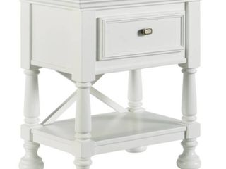 Signature Design By Ashley Kaslyn White One Drawer Nightstand