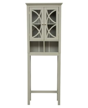 Glitzhome Bathroom Cabinet Spacesaver  Gray   Retail 208 99