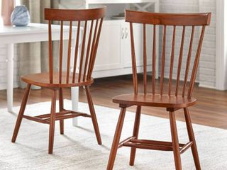 Set of 2 Venice Chairs Walnut   Buylateral