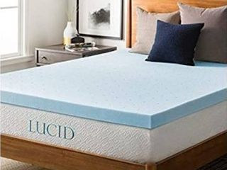 lucid 3  Gel Memory Foam Mattress Topper with cover