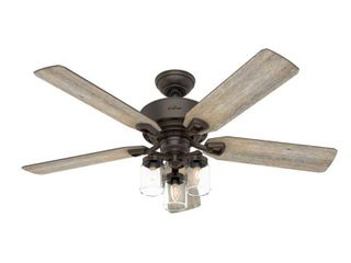 Hunter 52  Devon Park Onyx Bengal Ceiling Fan with light Kit and Remote