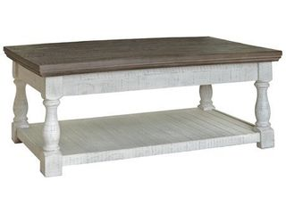 Havalance Casual Gray White lift Top Cocktail Table   48 W x 28 D x 19 H Retail 368 49