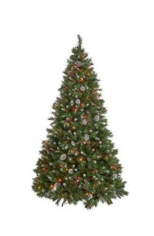 7 Foot Mixed Spruce Pre lit lED Hinged Artificial Christmas Tree