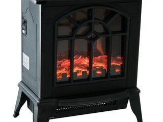 HOMCOM 1500W Freestanding Indoor Electric Fireplace Heater
