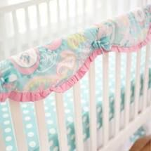 My Baby Sam Pixie Baby in Aqua Crib Rail Cover