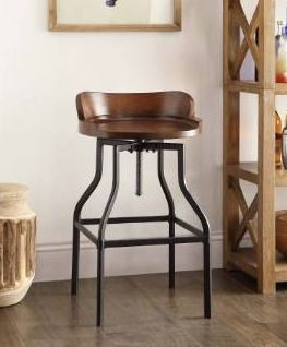Carbon loft Richard Wood and Metal Barstool