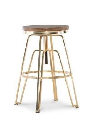 Aimes Wood and Metal Adjustable Stool  Retail 107 99