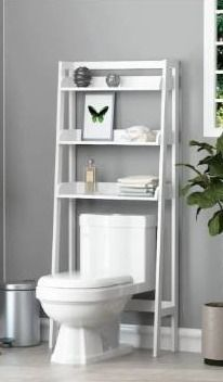 UTEX 3 Shelf Bathroom Oranizer Whiye