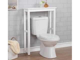 Dorset Over The Toilet Etagere White   Alaterre Furniture