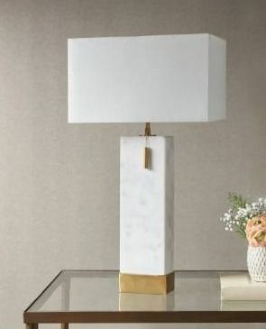 Bringham White Gold large Table lamp
