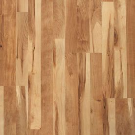 Style Selections 8 07 in W x 3 97 ft l Natural Smooth laminate Wood Planks