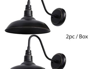 set of 2 lora 1 light Outdoor Wall lighting in Imperial Black