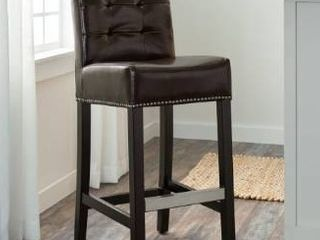 Abbyson Masimo 30 inch Dark Brown Bonded leather Bar Stool  Retail 136 99