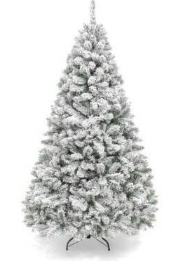 Artificial Christmas Tree Pre lit Flocked Hinged Pine Tree  Retail 258 49