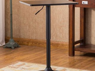 Belham Black Square Top Adjustable Height Metal Base Bar Table  Retail 89 99