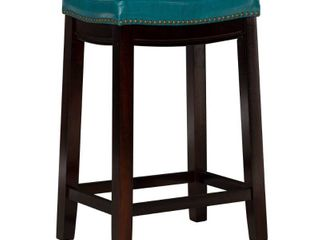 Claridge 26  Counter Height Barstool Blue   linon