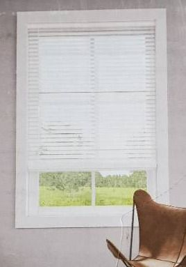 levolor 2 in White Faux Wood Blinds  Hard