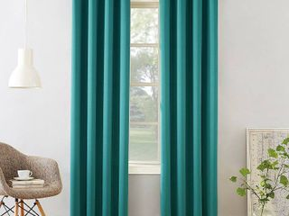 84 x54  Seymour Room Darkening Grommet Curtain Panel Marine   Sun Zero set of 2
