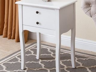 Abbyson larsa White Tea End Table  Retail 123 49