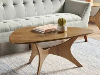 Carson Carrington Telsiai Brown Triangle Wood Coffee Table   Retail 139 99