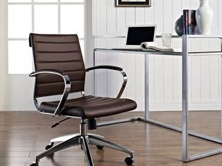 Jive Mid Back Office Chair Brown   Modway