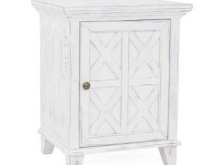 Georgia Rustic White Nightstand  Retail 301 99