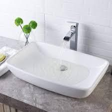 lordear 24  Modern Bathroom Vessel Sink Above Counter Art Basin   24x15x5 2  Retail 105 90