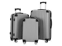 3 Piece Set Suitcase Spinner Hardshell lightweight TSA lock  20    24    28  Retail 107 99