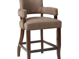 Madison Park Parler Brown Arm 26 inch Counter Stool   22 5 w x 24 5 d x 40 25 h  Retail 199 99