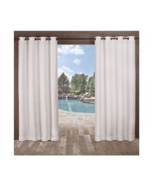 ATI Home Delano Indoor Outdoor Grommet Top Curtain Panel Pair