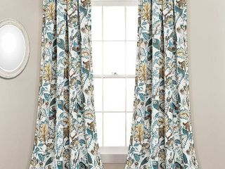 lush Decor Cynthia Jacobean Room darkening Curtain Panel Pair  Retail 79 98
