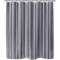 PARISIENNE STRIPE STONEWASH Shower Curtain By Kavka Designs  Retail 83 49