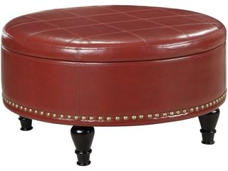 Augusta Storage Ottoman Red   OSP Home Furnishings