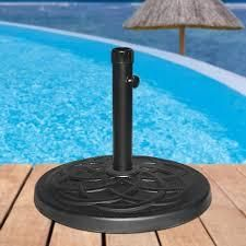 Maypex 27 lBS Heavy Duty Case Stone Umbrella Base Black