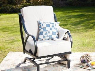 PATIO FESTIVAl Outdoor Rocking Motion Chair with Cushions  Retail 272 49