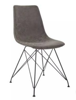 Set of 2 Avenue Six Gray Trenton Chairs