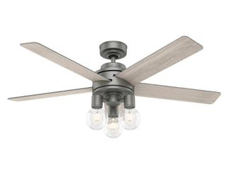 52in Hardwick Ceiling Fan in Matte Silver with lED light Kit