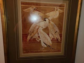 Framed Art with Pelicans