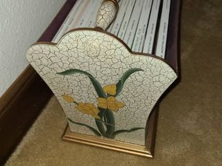 Hand Painted Magazine Rack with a few ARCHITECTURAl DIGEST