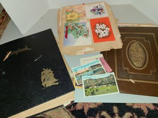 Scrapbooks and postcards